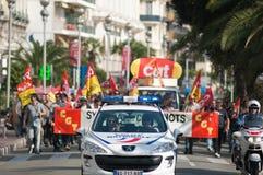 против французских работников забастовки реформы пенсии Стоковое Изображение