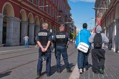 против французской забастовки реформы пенсии stuudent Стоковая Фотография RF