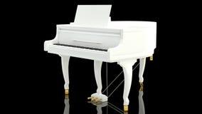 против черной белизны рояля Стоковые Изображения
