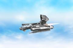 Прототип корабля боя воздушный Стоковое фото RF