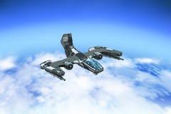 Прототип корабля боя воздушный Стоковые Фотографии RF