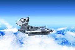 Прототип корабля боя воздушный иллюстрация штока