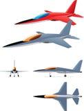Прототип реактивного истребителя Стоковое Изображение RF