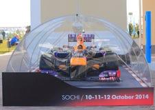 Прототип bolide гонки в выставочном зале, Сочи Стоковая Фотография