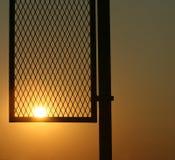 протухший заход солнца полюса Стоковые Изображения