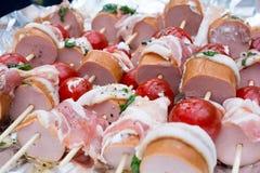 Протыкальники сосиски барбекю Стоковое фото RF
