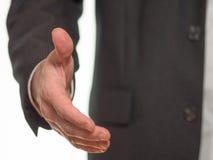 Протягиванная рука, который нужно приветствовать Стоковое Фото