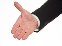 Протягиванная рука, который нужно приветствовать Стоковое Изображение RF