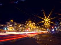 Протягиванные света Стоковая Фотография RF