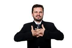 протягивать бизнесмена Стоковое фото RF