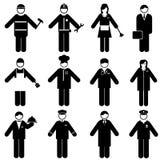 Профессии и значки занятий Стоковое Изображение RF