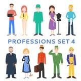 Профессии, формы, работа вектор установленный иконами Стоковое Изображение