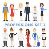 Профессии, формы, работа Стоковое Изображение