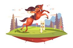 Профессиональная верховая езда бесплатная иллюстрация