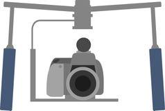 Профессиональная камера с прибором стабилизатора иллюстрация штока