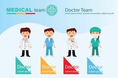 Профессиональная медицинская бригада для концепции жизни здоровья стоковые изображения
