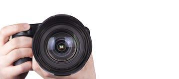 Профессиональная цифровая изолированная камера фото Стоковые Изображения