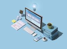 Профессиональные веб-дизайн и обслуживание развития вебсайта стоковые фотографии rf