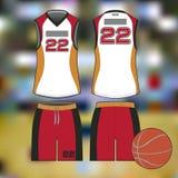 Профессиональные спорт равномерные для баскетбола Изолированное изображение иллюстрация штока