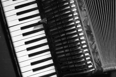 Профессиональный винтажный аккордеон стоковое изображение rf