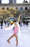 Профессиональный женский конькобежец Стоковые Фотографии RF
