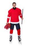 Профессиональный игрок хоккея после игры Стоковые Изображения