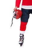 Профессиональный игрок хоккея после игры Стоковое Изображение