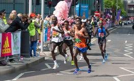 Профессиональный спринтер приезжая первое в канереечный причал london Великобритания Стоковые Фото