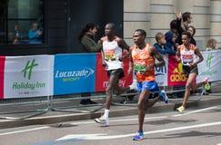 Профессиональный спринтер приезжая первое в канереечный причал london Великобритания Стоковые Изображения