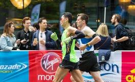 Профессиональный спринтер приезжая первое в канереечный причал london Великобритания Стоковая Фотография RF