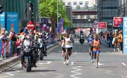 Профессиональный спринтер приезжая первое в канереечный причал london Великобритания Стоковые Фотографии RF