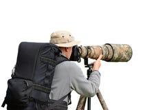 Профессиональный фотограф живой природы Стоковые Изображения