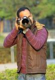 Профессиональный фотограф Стоковая Фотография