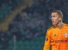 Профессиональный футболист Hannes Halldorsson стоковое фото rf