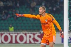 Профессиональный футболист Hannes Halldorsson стоковые фото