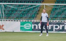 Профессиональный футболист Hannes Halldorsson стоковые фотографии rf