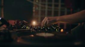 Профессиональный dj или рекордная музыка смешивания директора акции видеоматериалы
