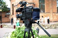 профессиональный videocamera Стоковая Фотография
