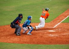 профессионал игры бейсбола стоковая фотография rf