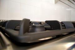 профессионал кухни детали горелок стоковое изображение rf