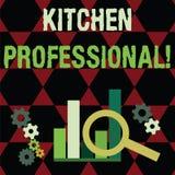 Профессионал кухни показа знака текста Схематическое фото оборудован иллюстрация вектора