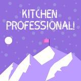 Профессионал кухни сочинительства текста почерка Смысл концепции обо иллюстрация штока