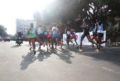 профессионал марафона bangalore спортсменов Африки Стоковое Фото