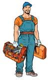 Профессионал обслуживания разнорабочего ремонтника иллюстрация штока