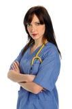 профессионал портрета здоровья внимательности женский Стоковое фото RF