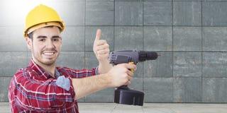 Профессионал рабочий-строителя стоковые изображения rf