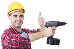 Профессионал рабочий-строителя стоковые изображения