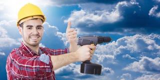 Профессионал рабочий-строителя стоковые фотографии rf