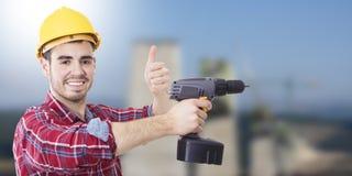 Профессионал рабочий-строителя стоковое фото
