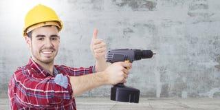 Профессионал рабочий-строителя стоковое изображение rf